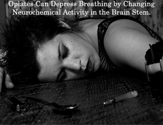 opiate depresses breathing